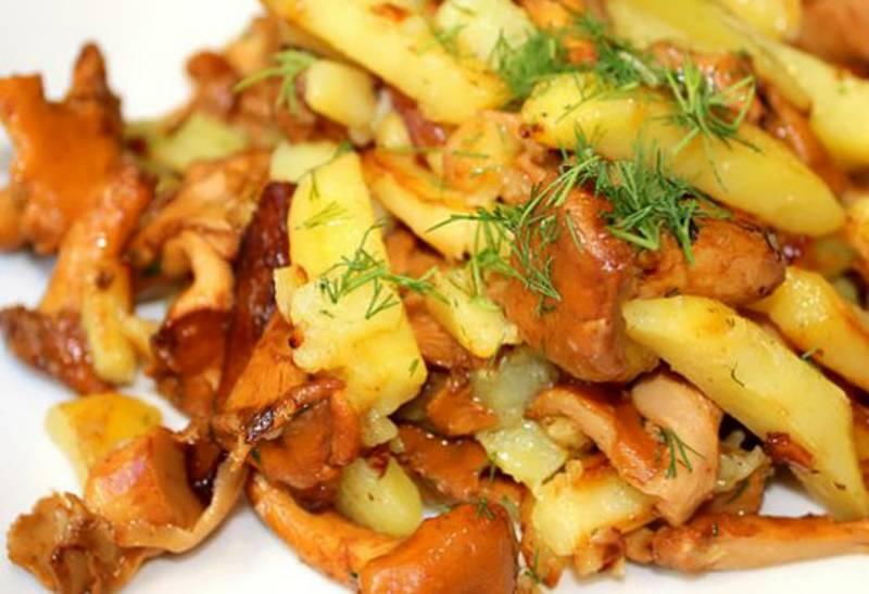 Рыжики с картошкой жареные рецепт с пошагово в